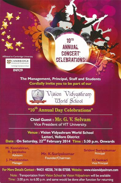 10th annual day celebrations
